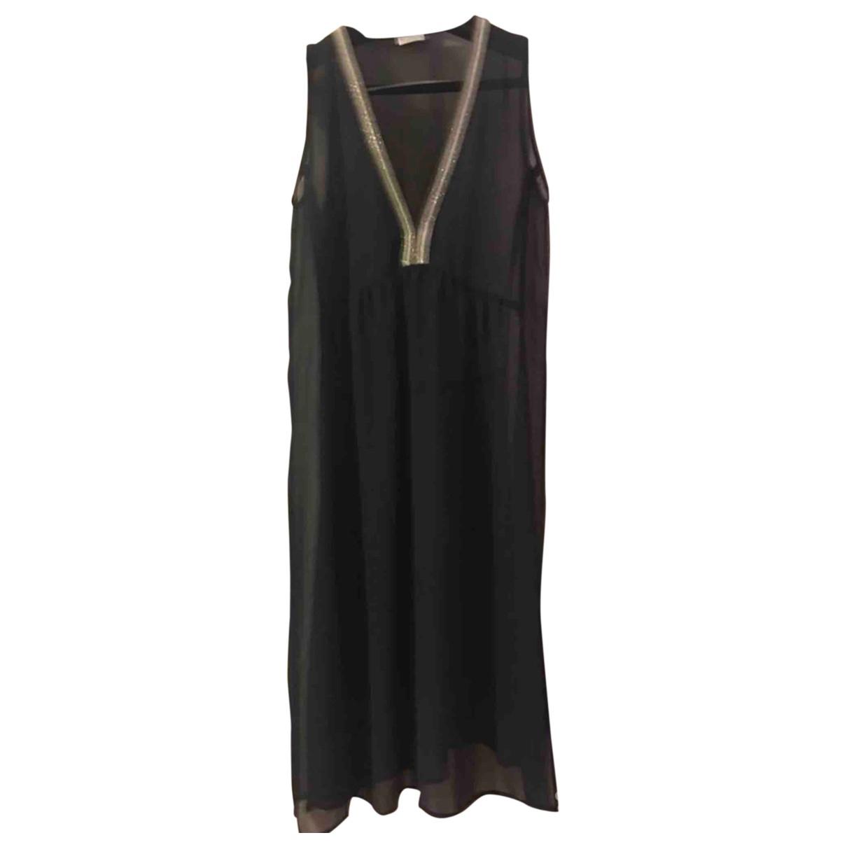 Brunello Cucinelli \N Kleid in  Schwarz Seide