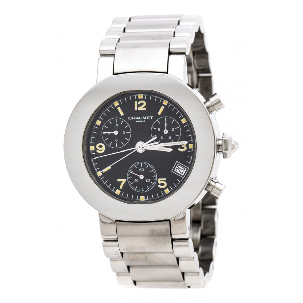 Chaumet \N Black Steel watch for Men \N