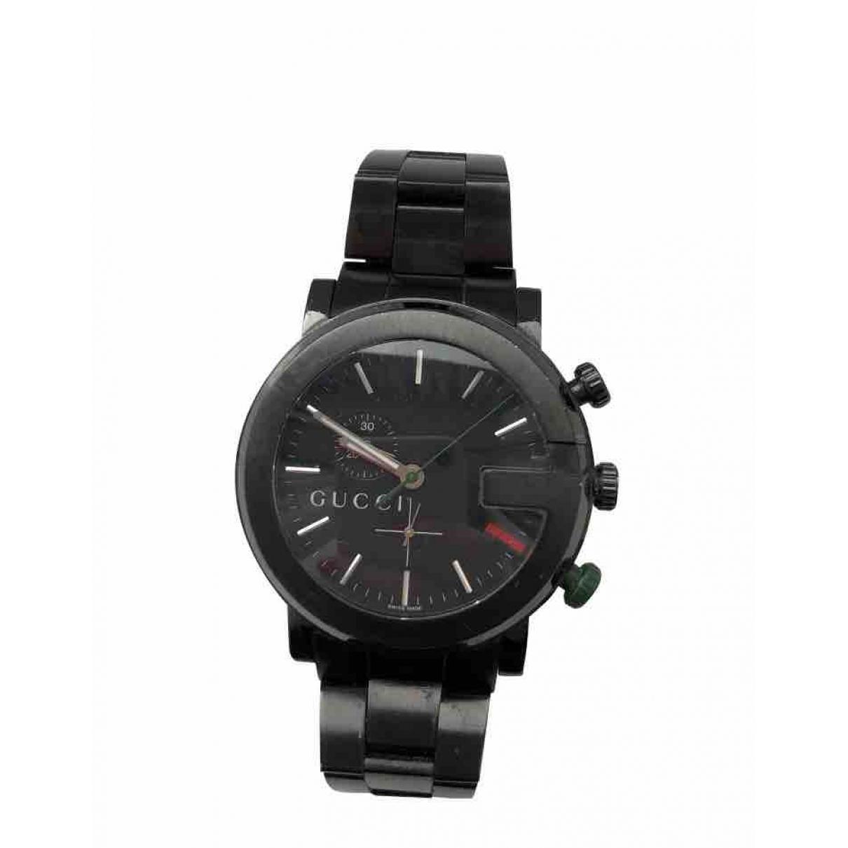 Gucci G-Chrono Uhr in  Schwarz Stahl