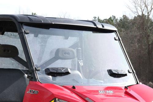 Seizmik 25024 Windshield Versa-Vent (Hard Poly) Polaris Full Size Pro-Fit Ranger