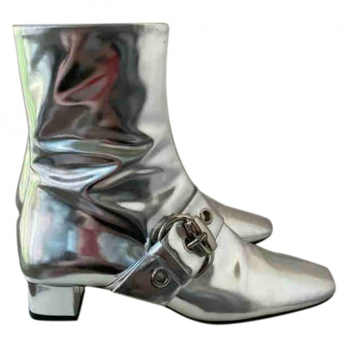 Gucci \N Silver Leather Ankle boots for Women 36 IT