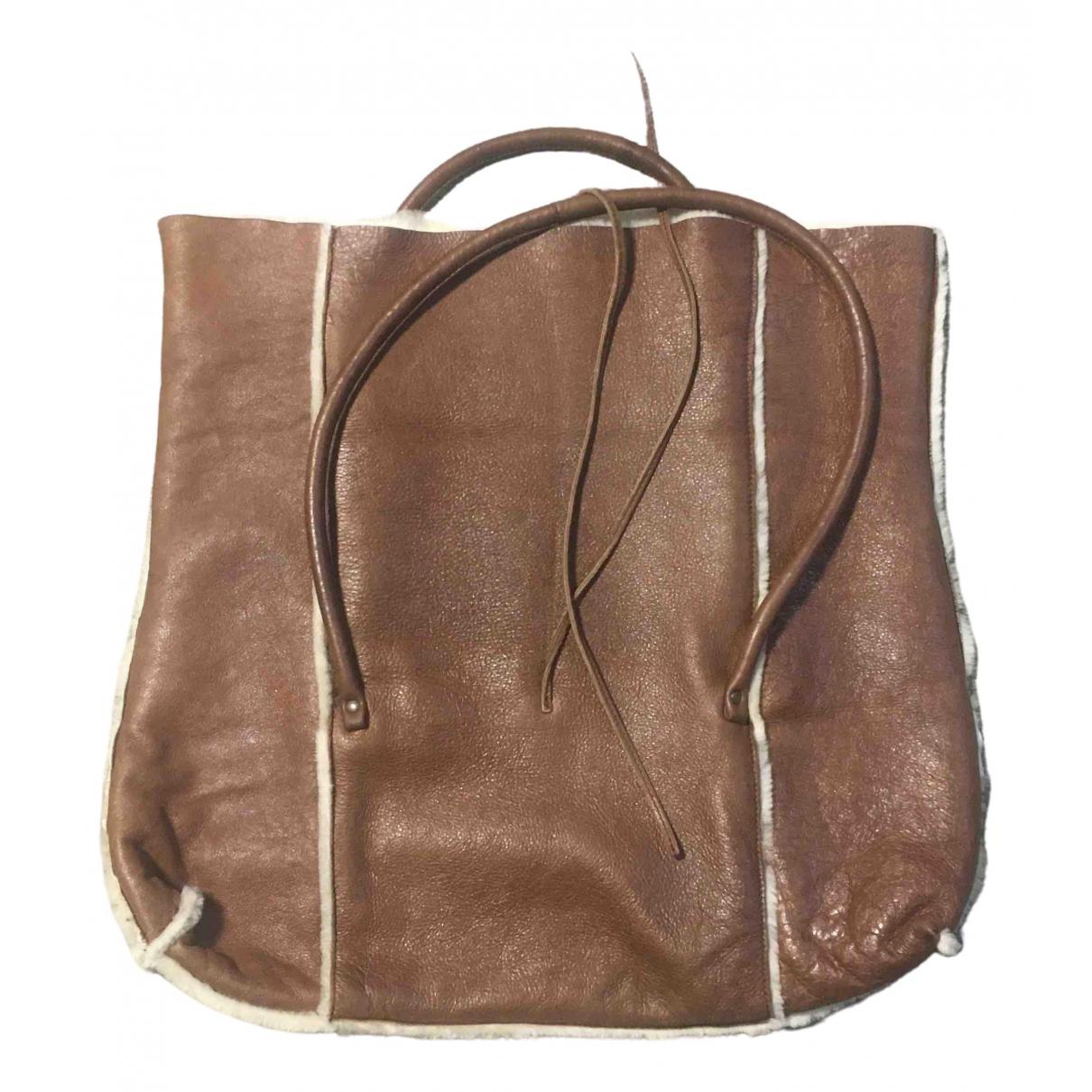 Miu Miu \N Handtasche in  Braun Fell