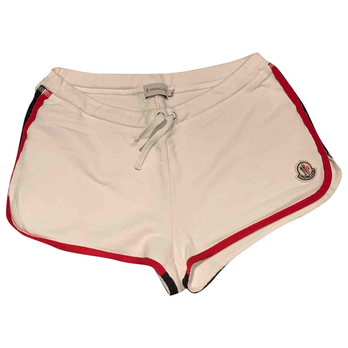 Moncler \N Shorts in  Ecru Baumwolle