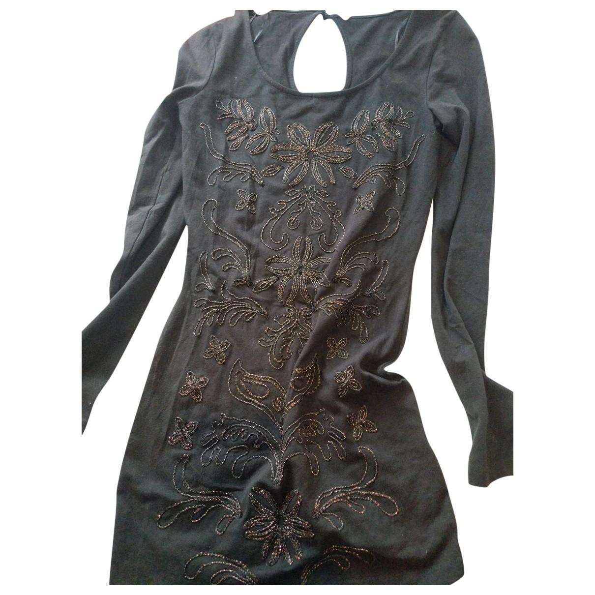 Free People - Robe   pour femme en coton - noir