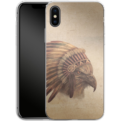Apple iPhone X Silikon Handyhuelle - Eagle Chief von Terry Fan