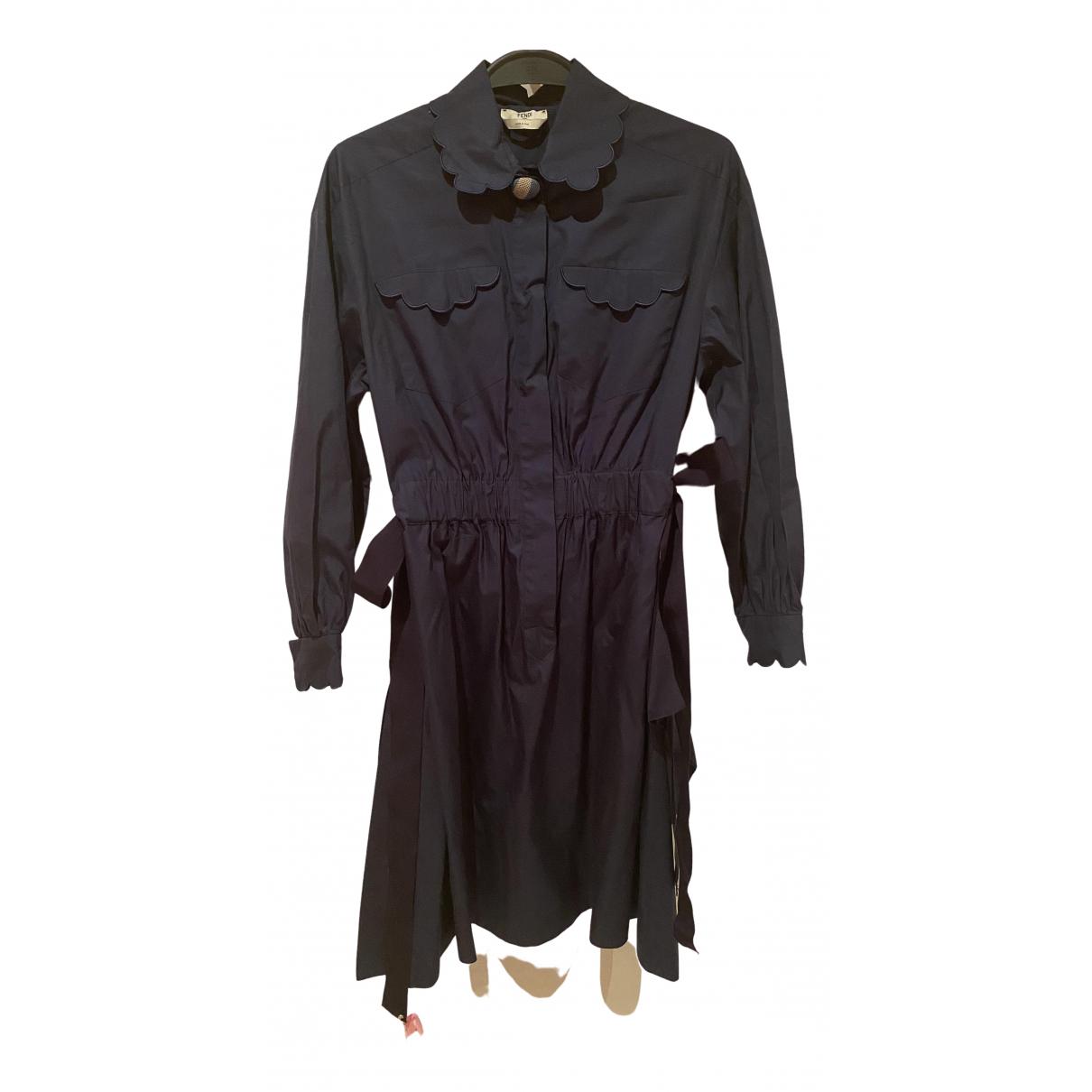 Fendi \N Kleid in  Blau Baumwolle