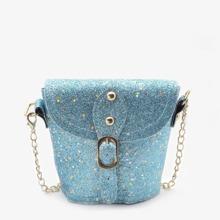 Girls Eyelet Buckle Chain Bag