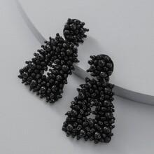Beaded Geometric Drop Earrings