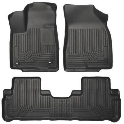 Husky WeatherBeater Floor Liners - Front & 2nd Row (Black) - 99601