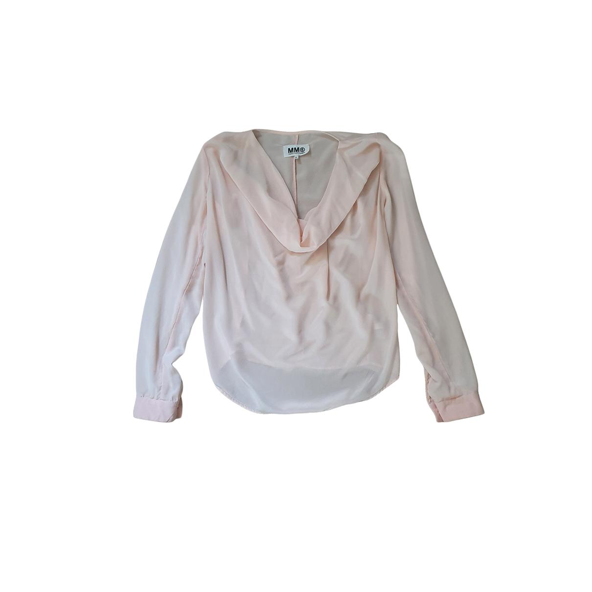 Maison Martin Margiela - Top   pour femme en soie - rose