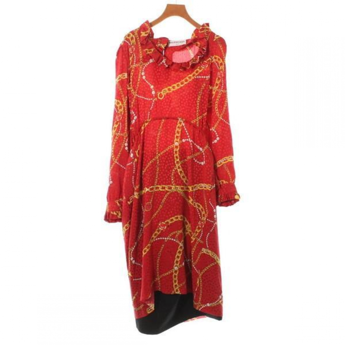 Balenciaga \N Red Silk dress for Women 36 FR