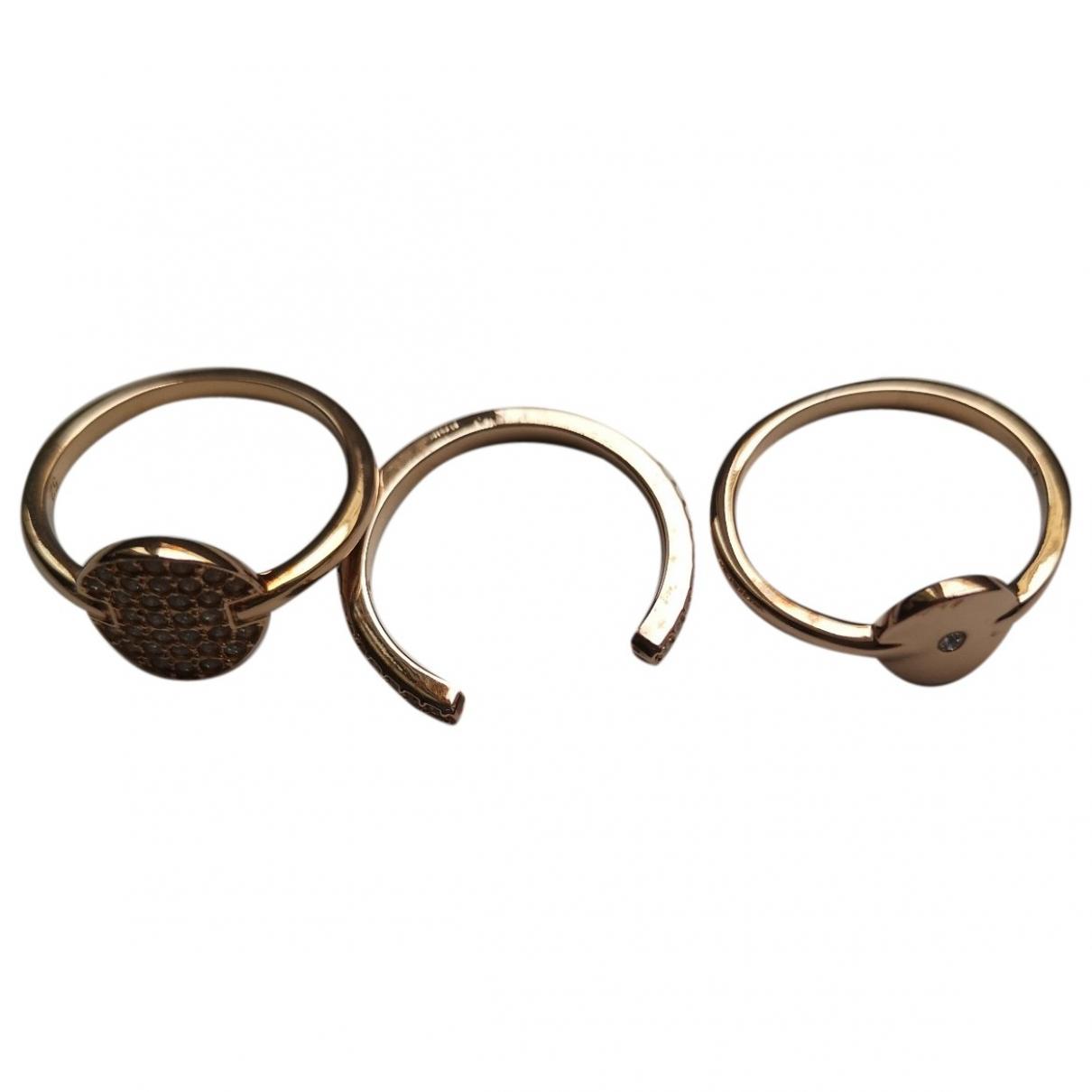 Swarovski \N Ring in  Rosa Stahl