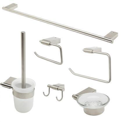 AB9515-BN Brushed Nickel 6 Piece Matching Bathroom Accessory