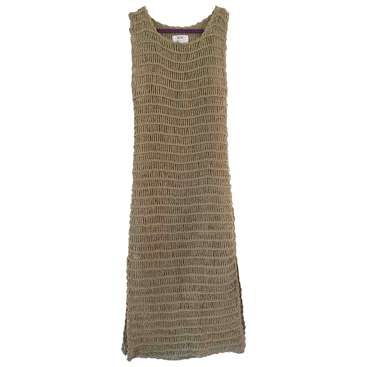 Sir \N Beige Cotton dress for Women 0 0-5