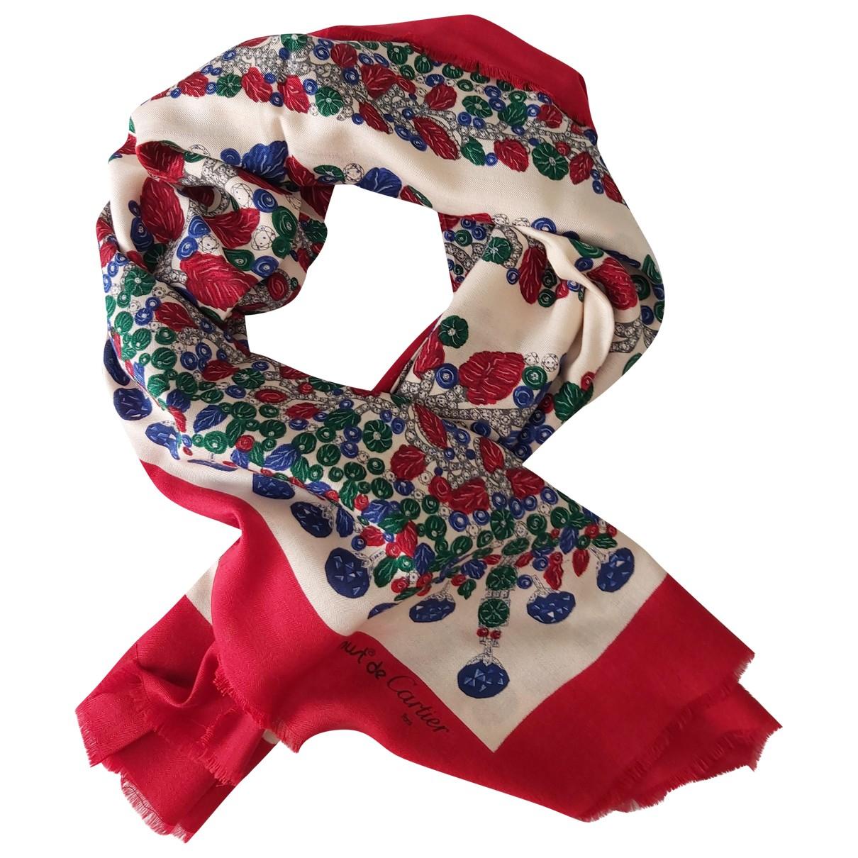 Cartier - Carre   pour femme en soie - multicolore
