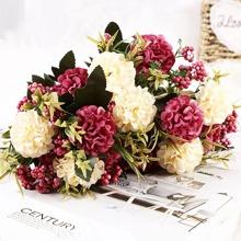 1 Strauss Kuenstliche Blume mit 7 Stuecken Blumen