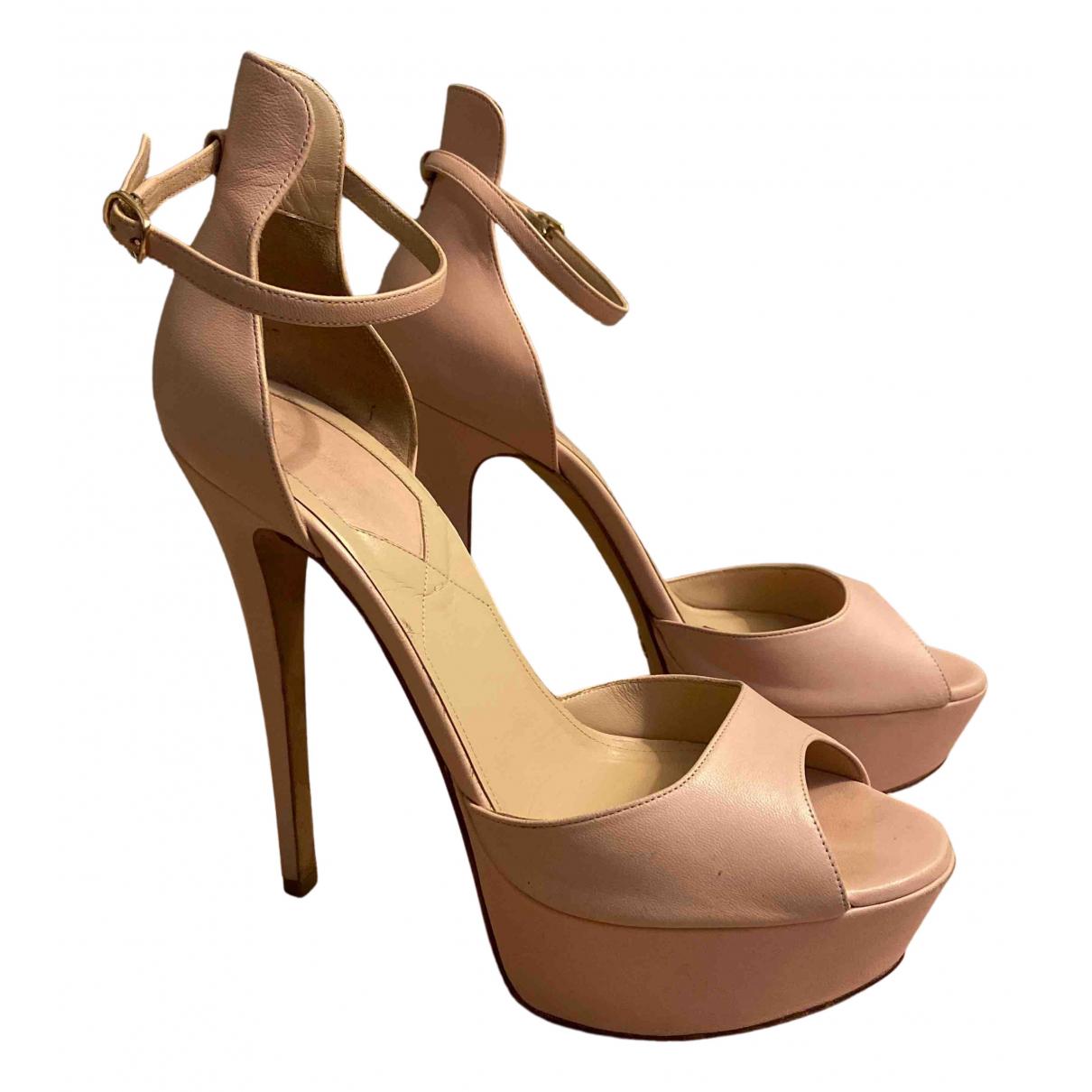 Elie Saab - Sandales   pour femme en cuir - rose