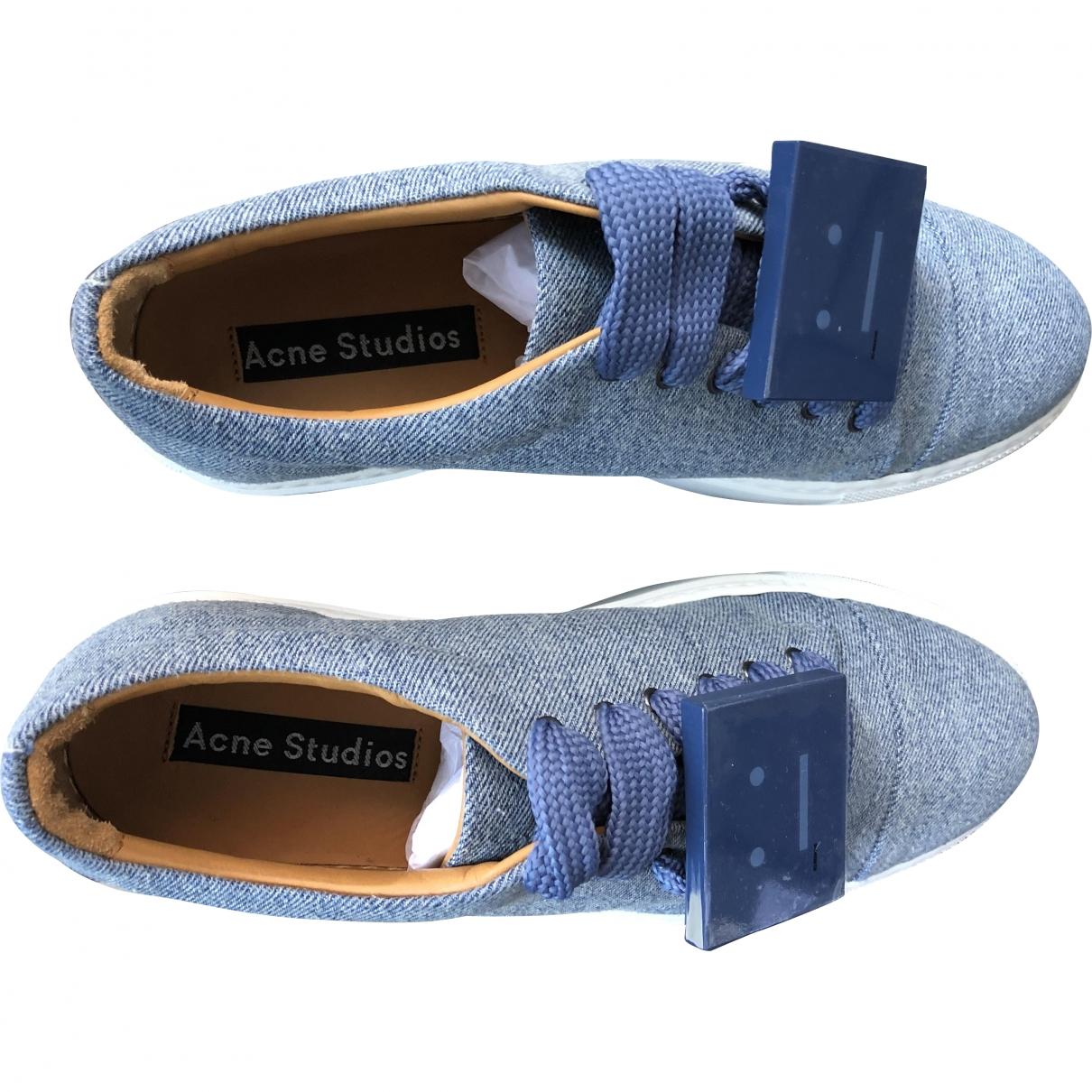 Acne Studios \N Blue Cloth Trainers for Women 40 EU