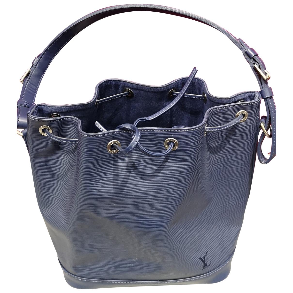 Louis Vuitton Noé Blue Leather handbag for Women N