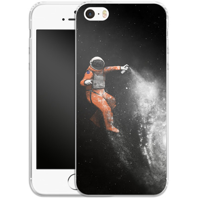 Apple iPhone 5 Silikon Handyhuelle - Space Astronaut von Florent Bodart