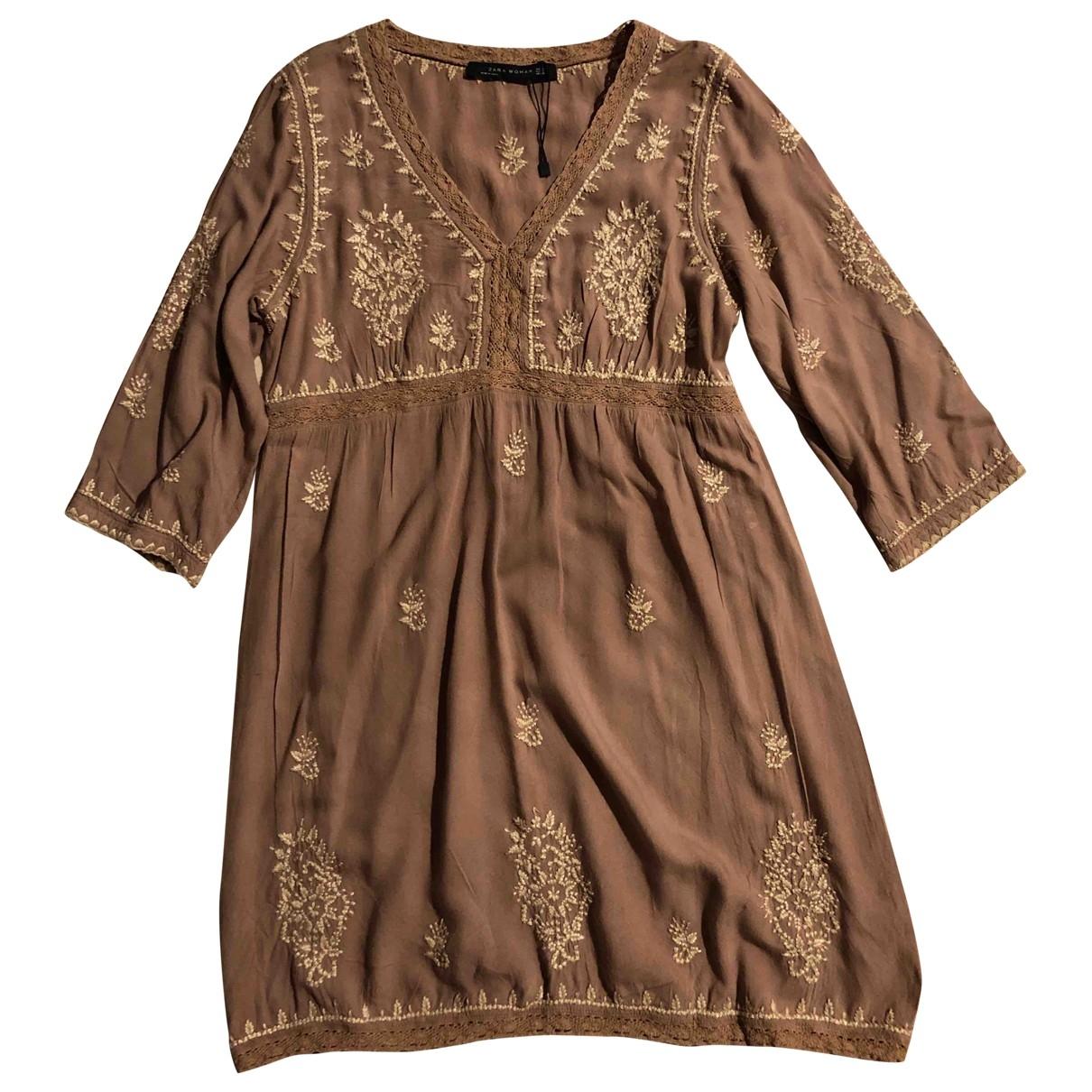 Zara \N Brown Cotton dress for Women S International
