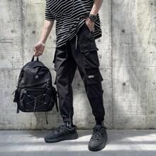 Pantalones cargo con bolsillo con solapa