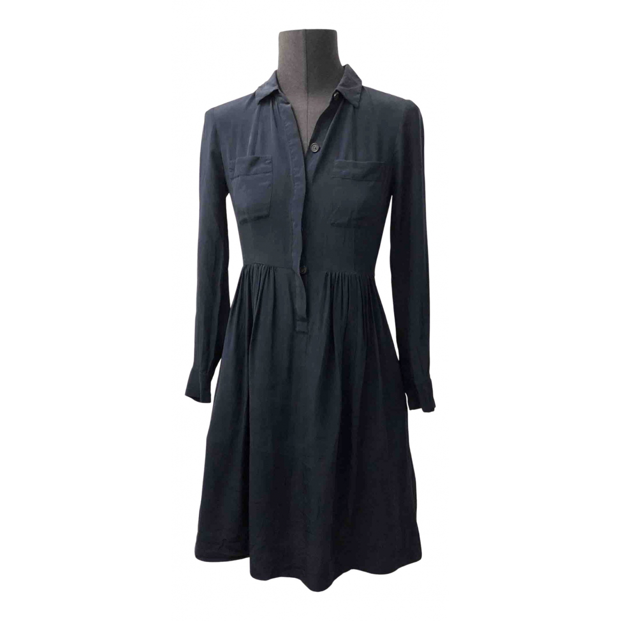 J.crew - Robe   pour femme en soie - bleu