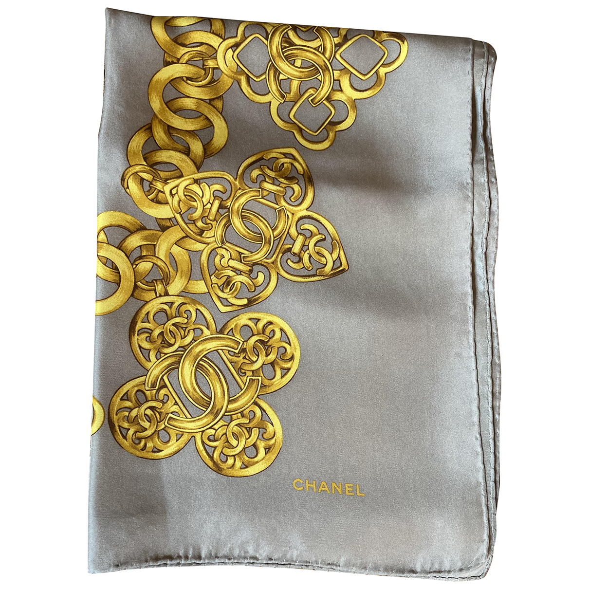 Chanel N Beige Silk scarf for Women N