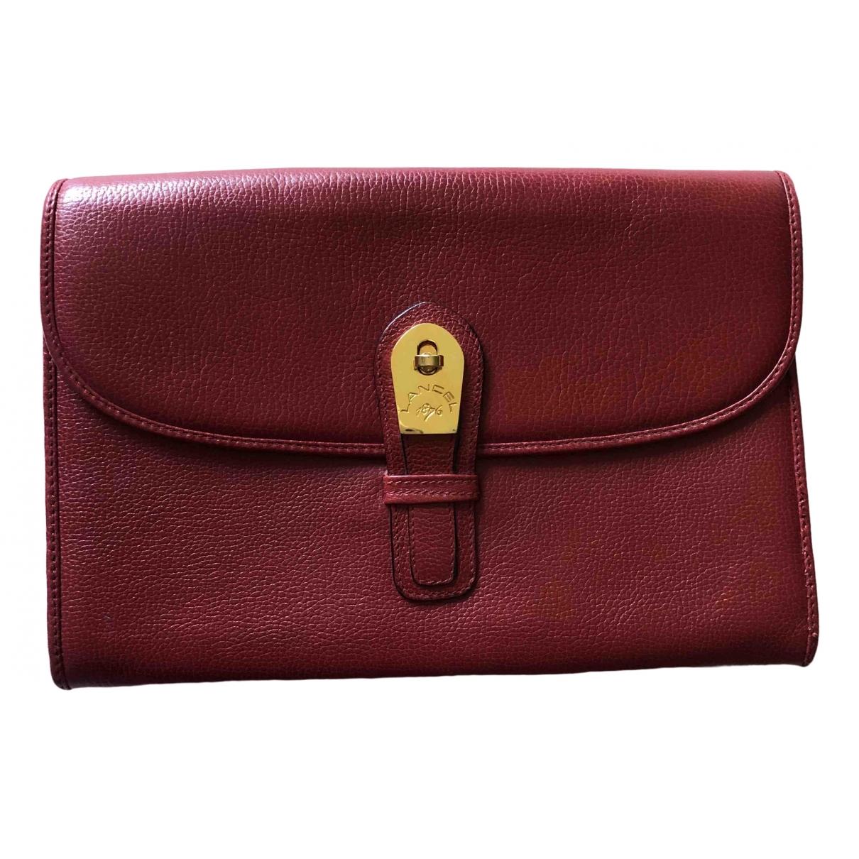 Lancel \N Red Leather Clutch bag for Women \N