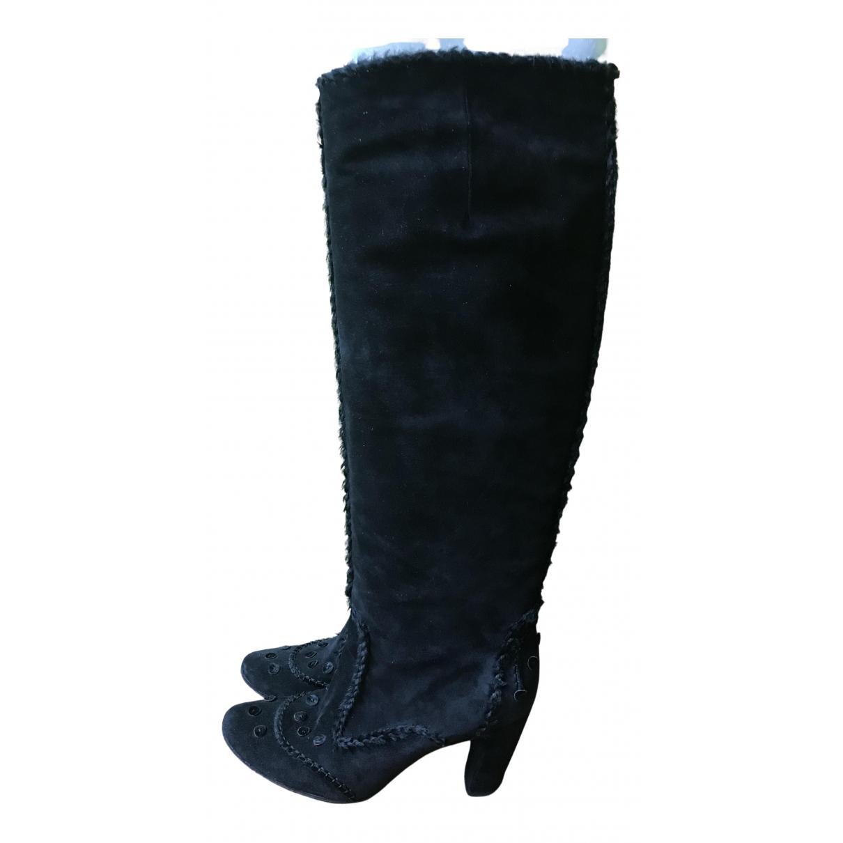 Roger Vivier N Black Suede Boots for Women 40.5 IT