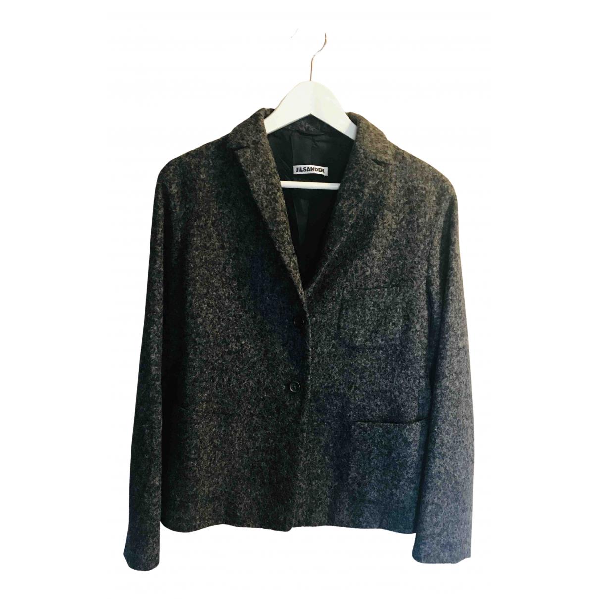 Jil Sander N Grey Wool jacket for Women 40 IT