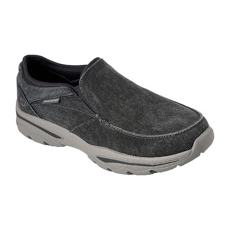 Skechers Relaxed Fit Moseco Mens Slip-On Shoes, 9 Extra Wide, Black