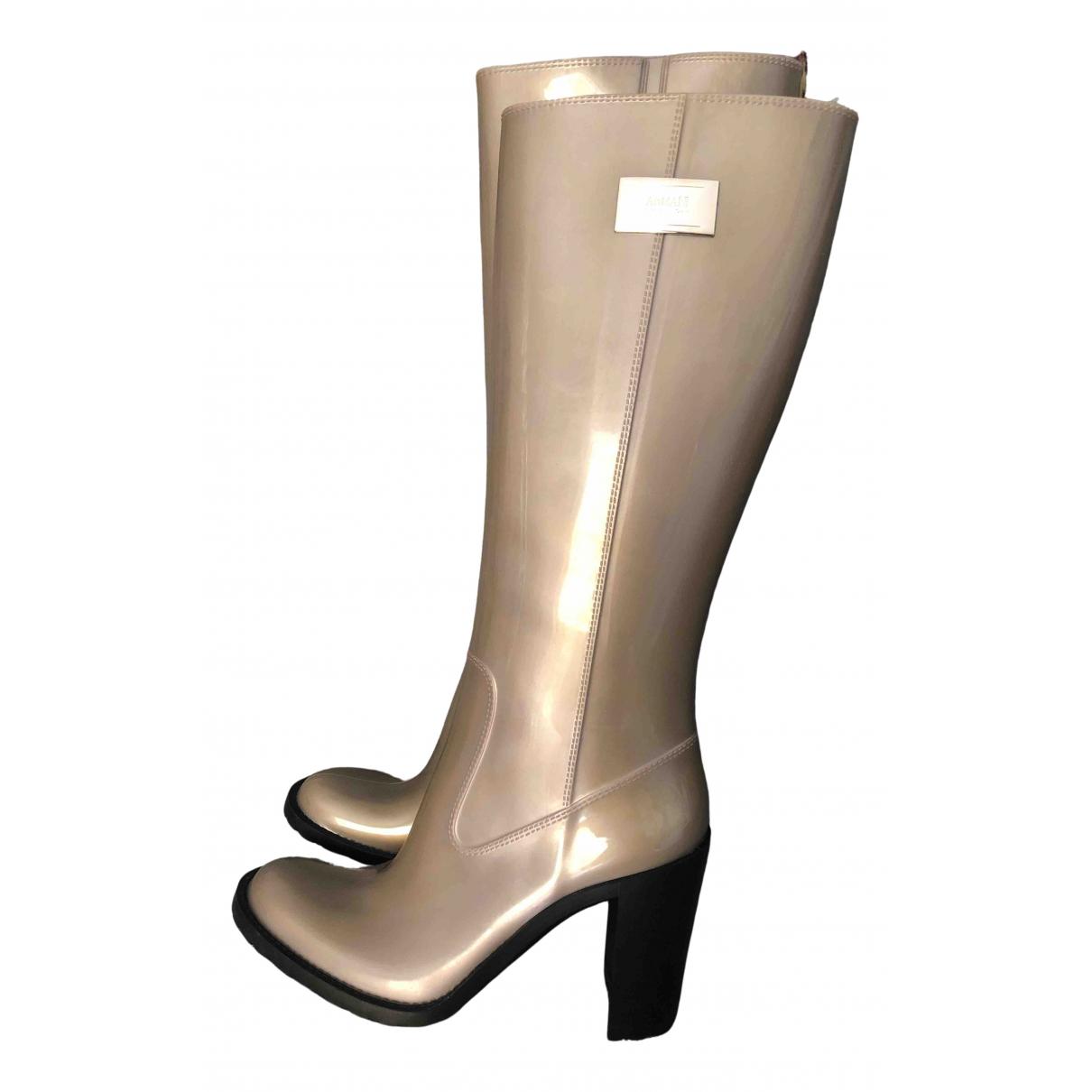 Armani Collezioni \N Stiefel in  Grau Kunststoff