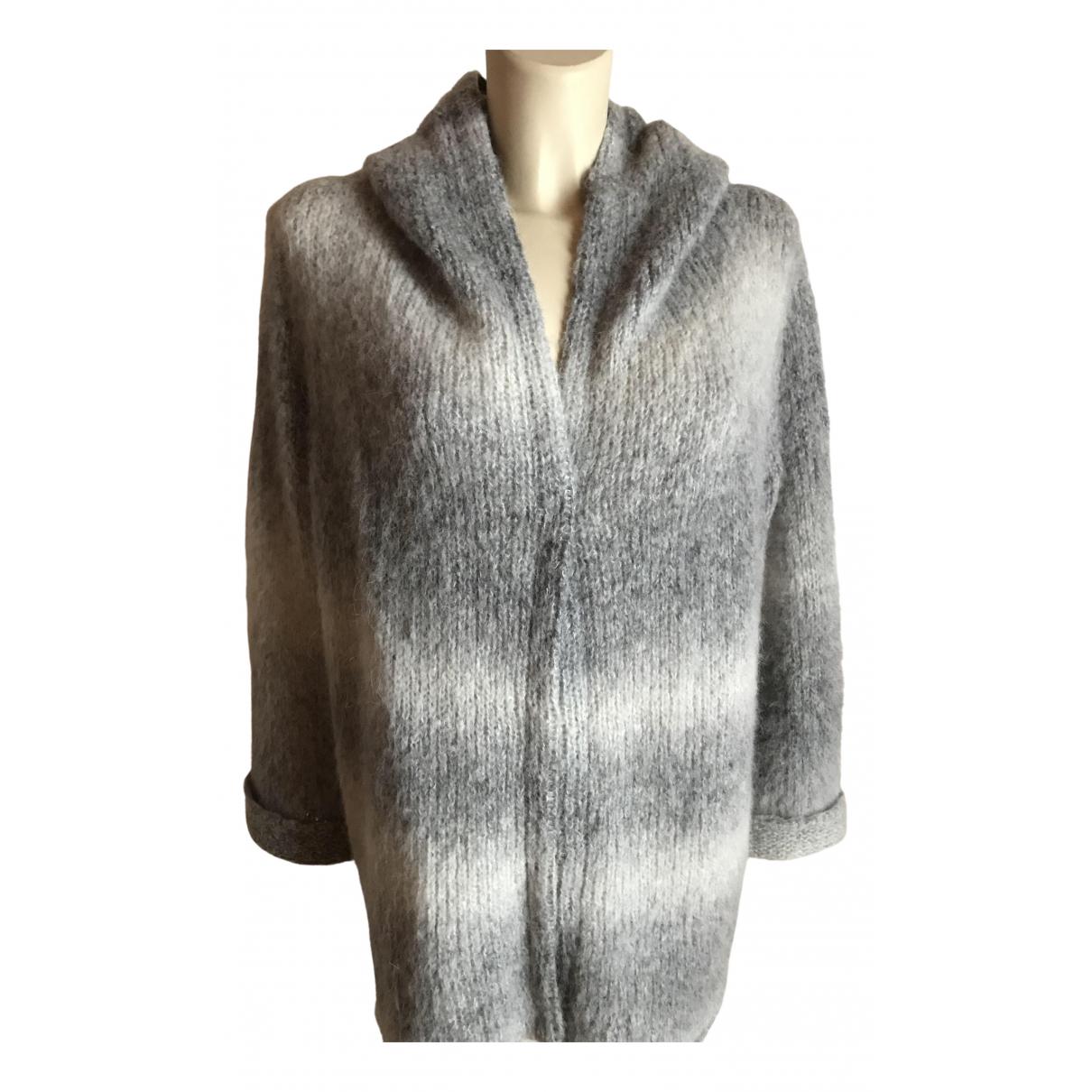 Non Signé / Unsigned N Grey Wool Knitwear for Women 44 IT