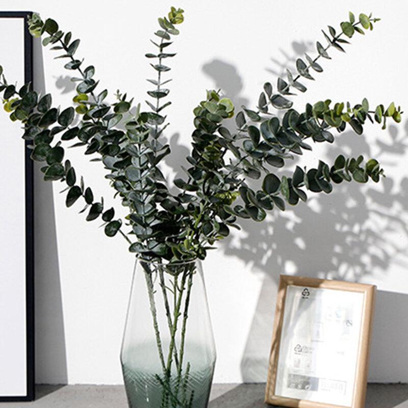 3/5/9 Forks Fake Plante Eucalyptus Leaves Bouquet Home Garden Decor Artificial Flower Plastic Plants