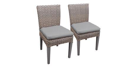 Florence Collection FLORENCE-TKC290b-ADC-C-GREY 2 Side Chairs - 2 Sets of Grey