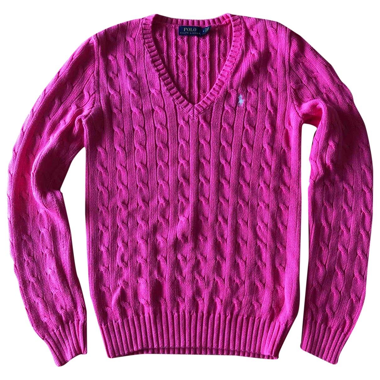 Polo Ralph Lauren \N Pink Cotton Knitwear for Women M International