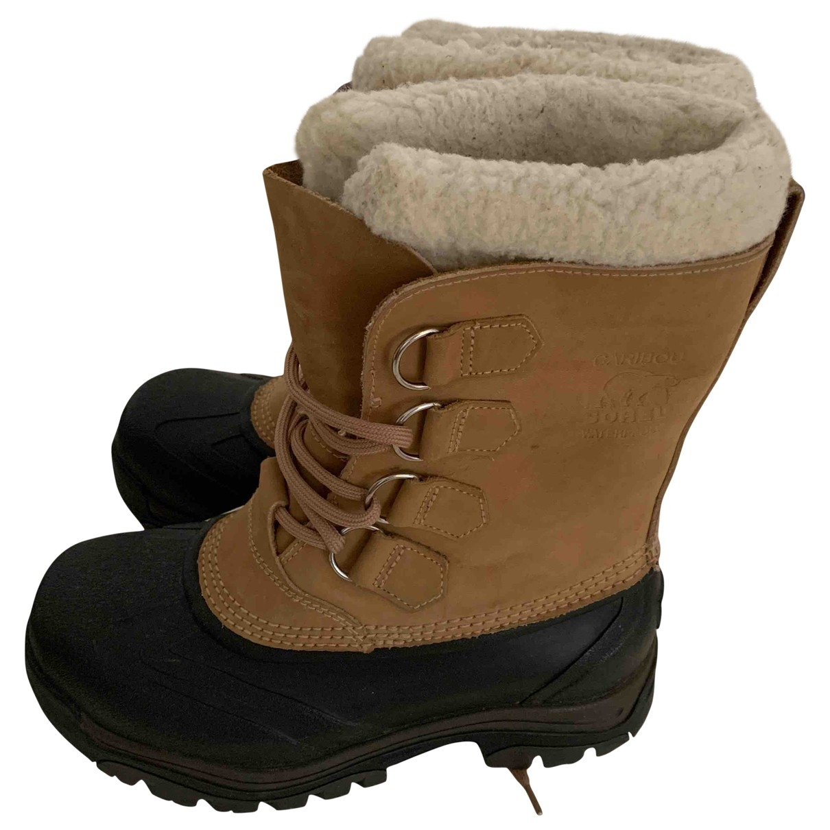 Sorel \N Camel Leather Ankle boots for Women 38 EU