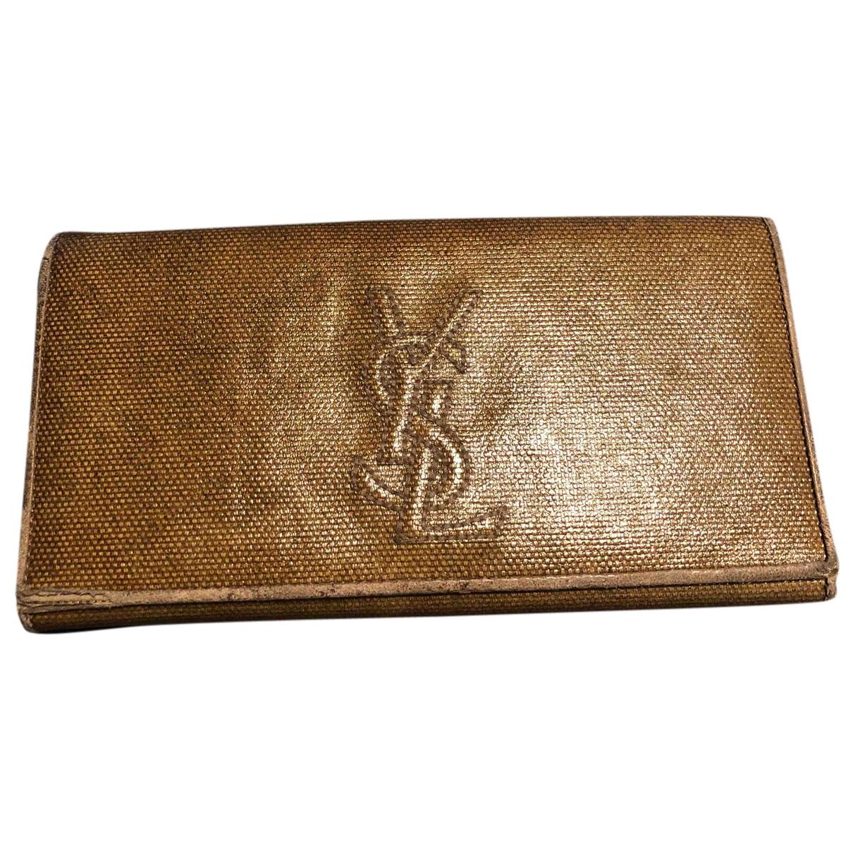 Yves Saint Laurent N Beige Leather wallet for Women N