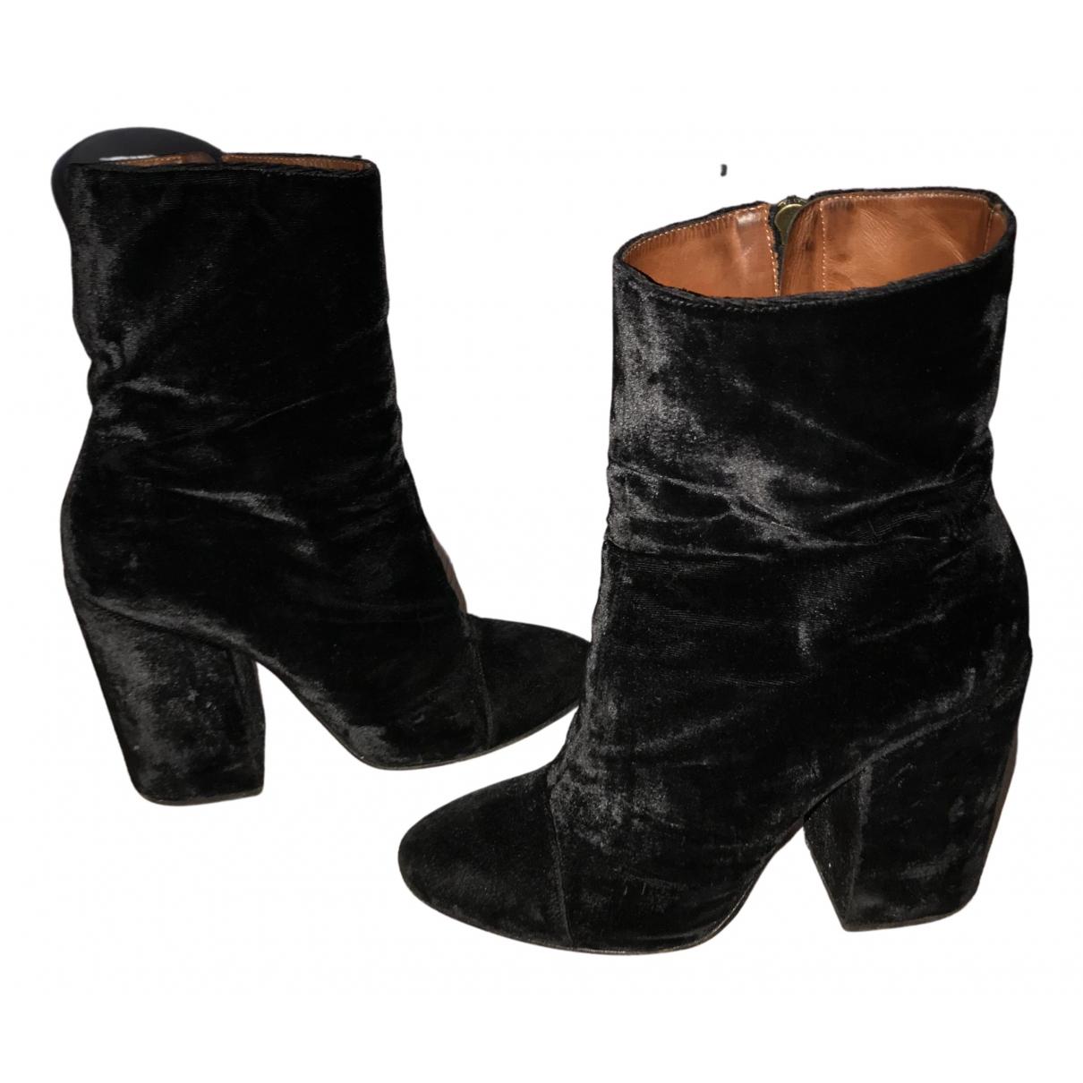 Dries Van Noten N Black Velvet Ankle boots for Women 40 EU