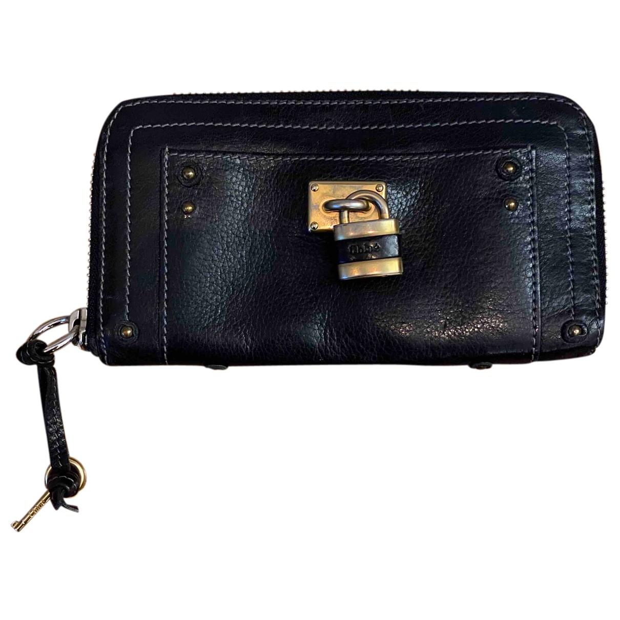 Chloé N Black Leather wallet for Women N