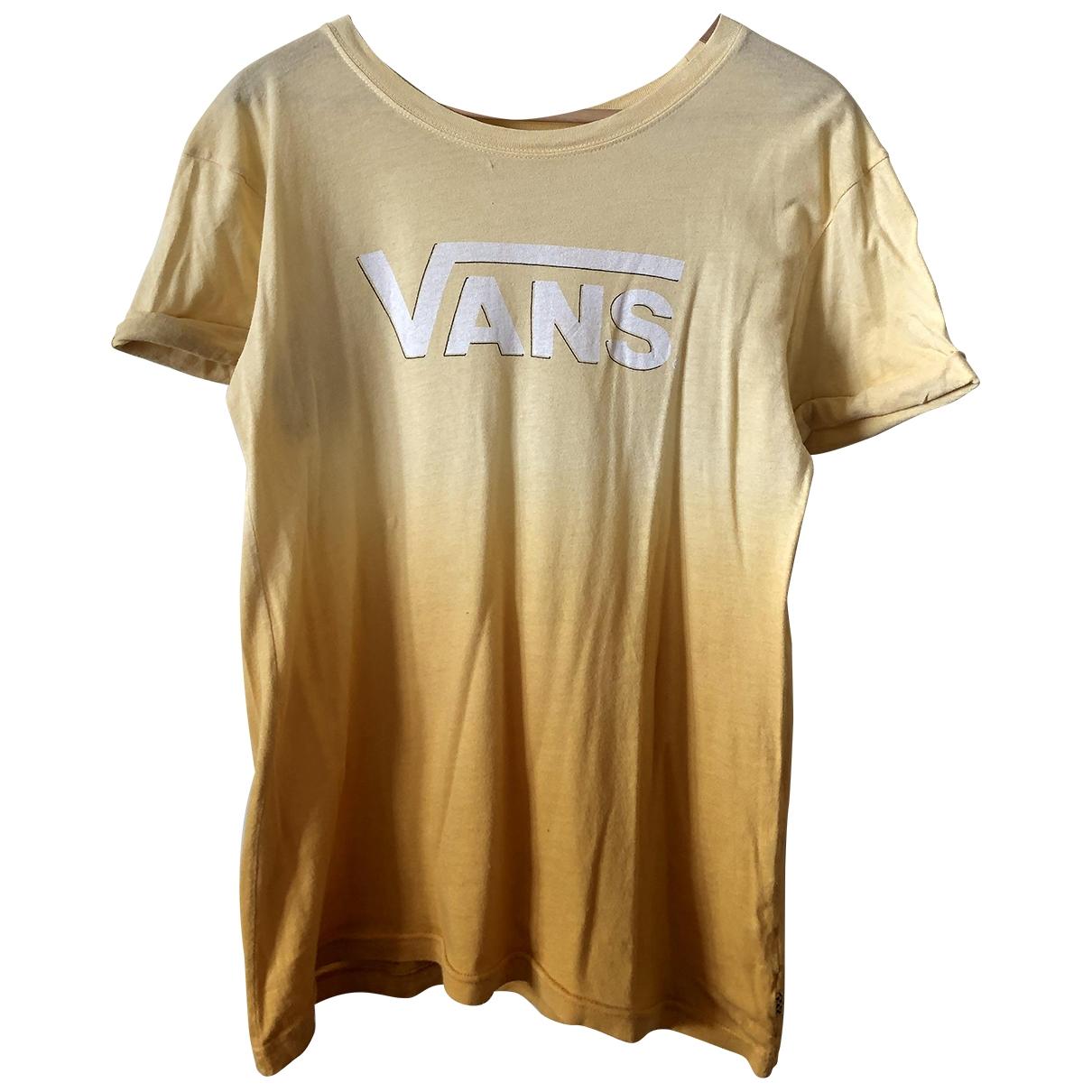 Vans - Top   pour femme en coton - jaune