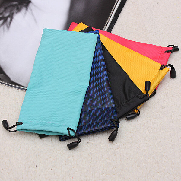 Sunglasses Eyeglasses Glasses Soft Cloth Drawstring Cleaning Case Pouch Bag