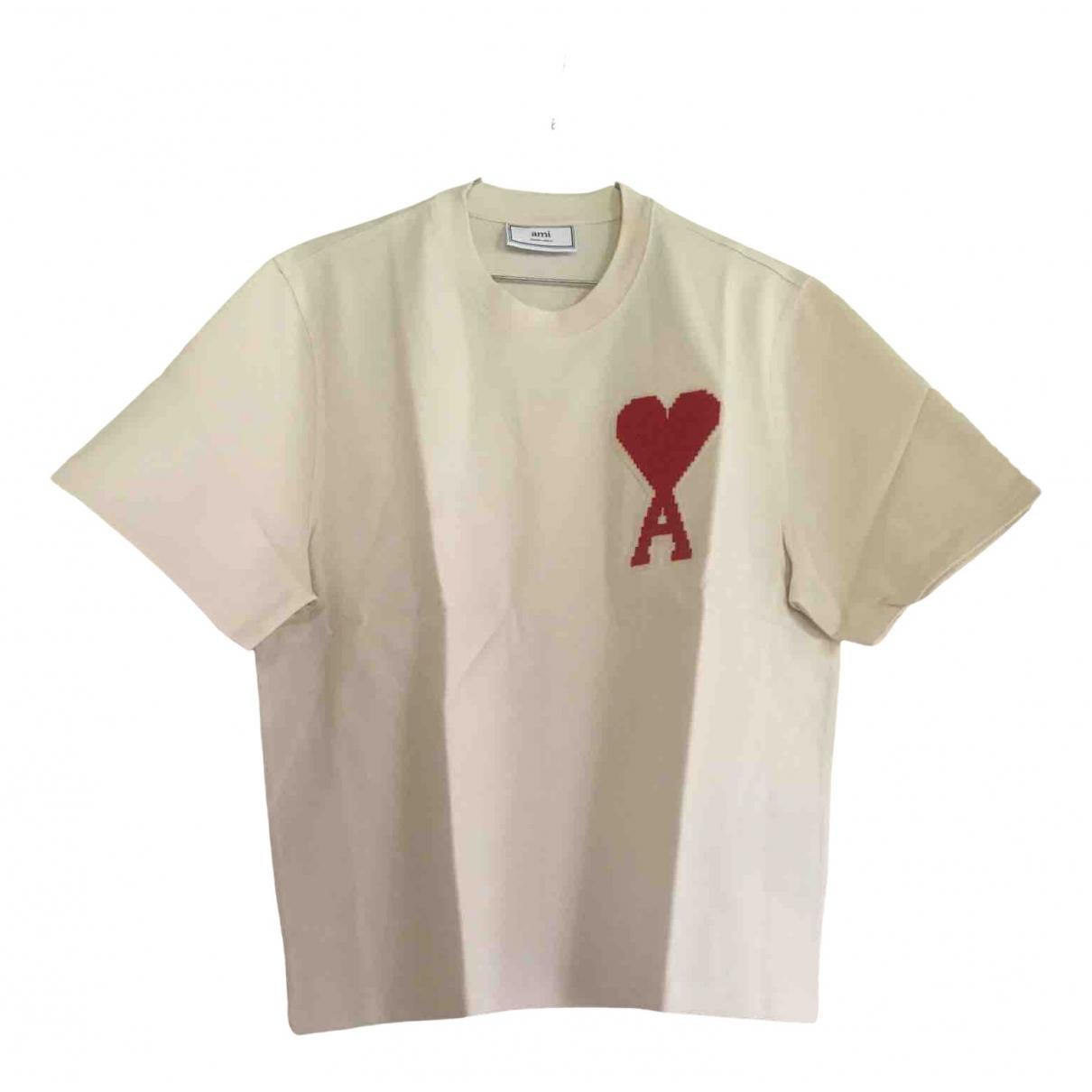 Ami N White Cotton T-shirts for Men L International