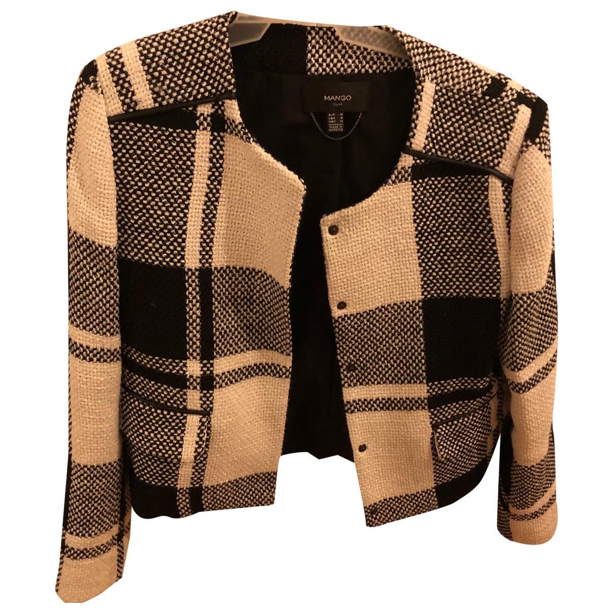 Mango \N Black Cotton jacket for Women 38 FR