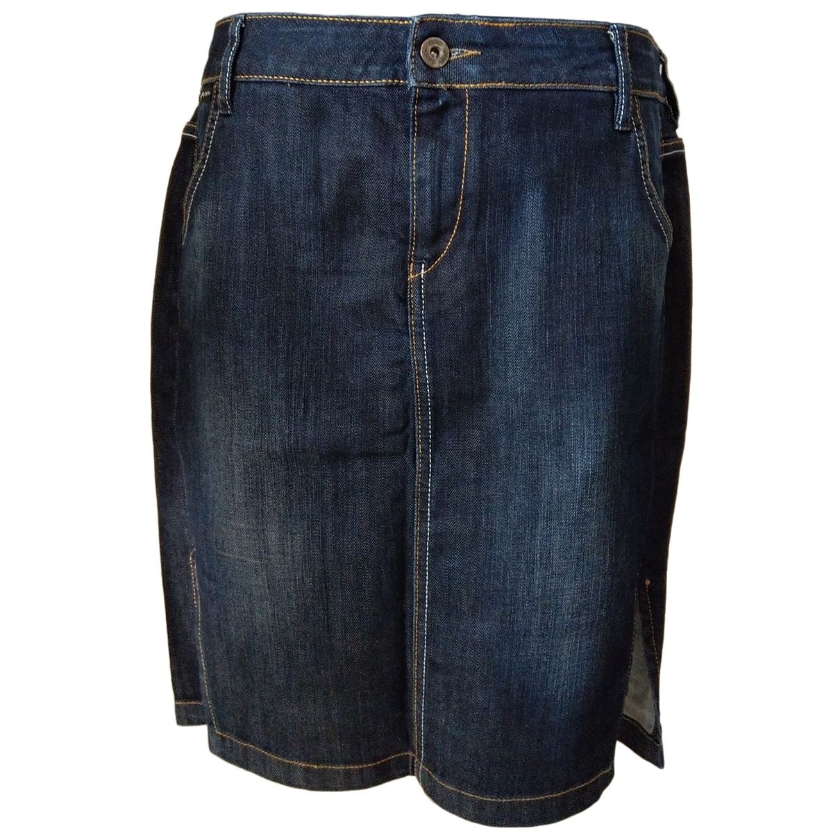 Calvin Klein \N Rocke in  Blau Denim - Jeans
