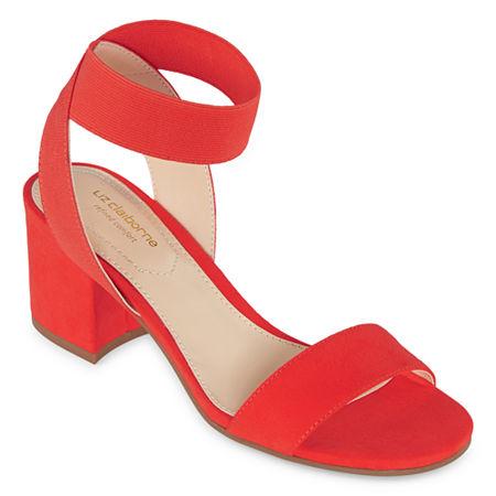 Liz Claiborne Womens Eastwick Strap Sandals, 9 1/2 Medium, Red