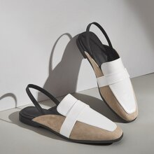 Colorblock Slingback Loafers