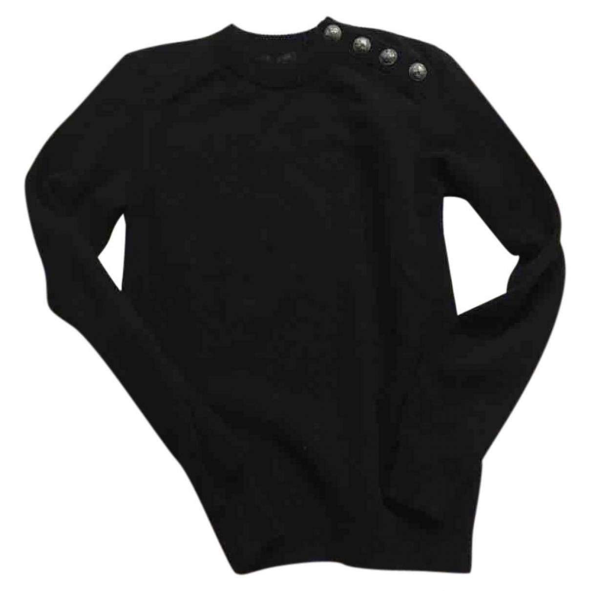 Balmain \N Pullover.Westen.Sweatshirts  in  Schwarz Kaschmir
