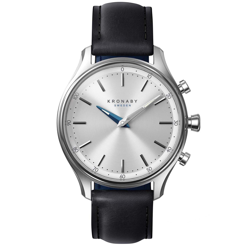 Kronaby Sekel S0657-1 Black Leather Automatic Self Wind Smart Watch